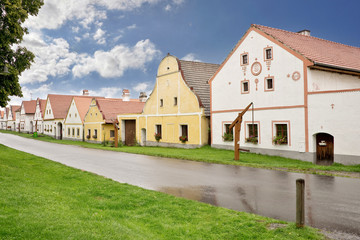 Village of Holasovice, Bohemia, Czech Republic