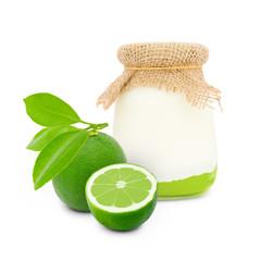 Lime yogurt