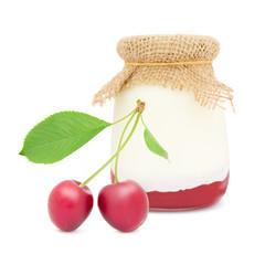 Sour cherry yogurt
