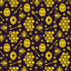 Honeycombs seamless pattern