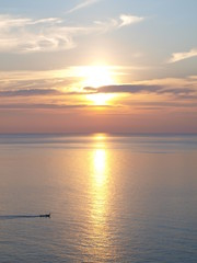 Wondeful sunset at the sea