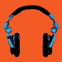 Headphones Pop Art vector