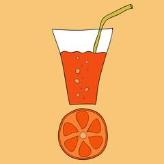 Doodle grapefruit juice