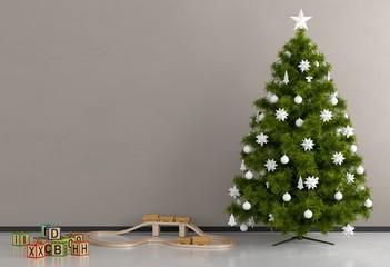 Weihnachtsgeschenke und Baum