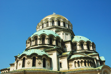 Bellissima cattedrale di Sofia, Bulgaria