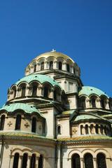 Vista della Cattedrale di Sofia, Bulgaria