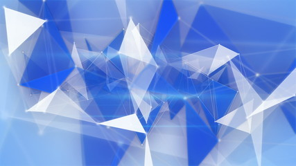 blue network structures flying loopable background