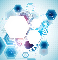 Abstract business background with technological elements