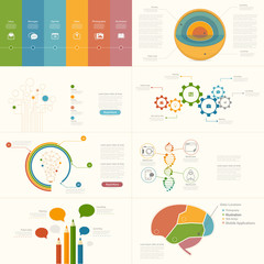 Set of infographics elements for presentation templates.
