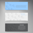 Vector paper template banner. White note