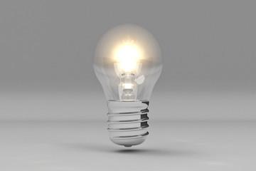 Light Bulb / 3D / Gray Background