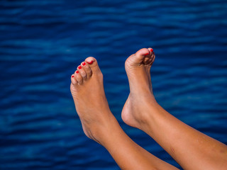 Beautiful feet above the water