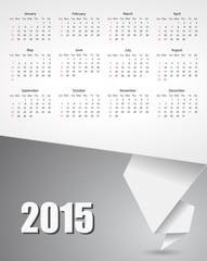 calendar 2015 paper banner