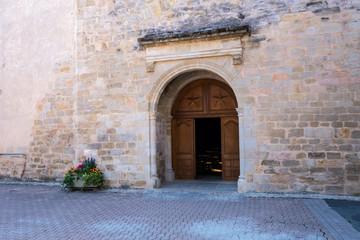Porte entrée église de Lautrec