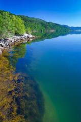 Beautiful Norwegian fjord coast in summer season