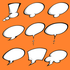 A Colored Comic Speech Bubbles set