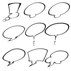 A Comic Speech Bubbles set illustration