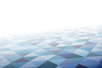 Geometric mosaic pattern in perspective