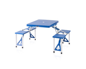 Fold able and portable picnic table
