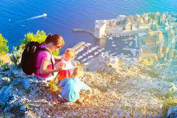 mother with kids travel in Europe