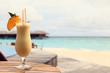 pina colada on tropical beach - 70512861