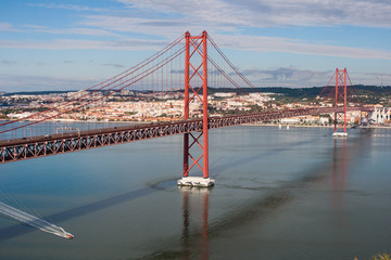 Bridge over Rio Tejo in Lisbon