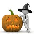 Leinwandbild Motiv omino bianco halloween