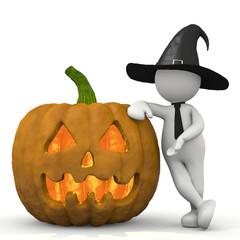 omino bianco halloween