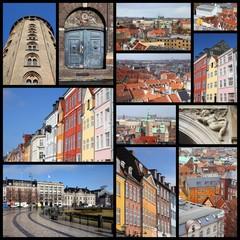 Copenhagen, Denmark - travel photo collage