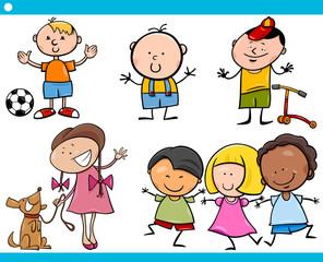 cute little children cartoon set