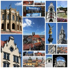 Germany - Munich - travel photo collage