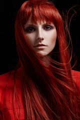 Beautiful portrait of woman with red hair