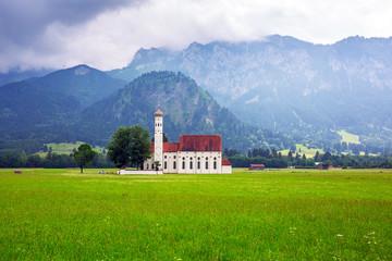 Small church in Bavarian Alps, Germany