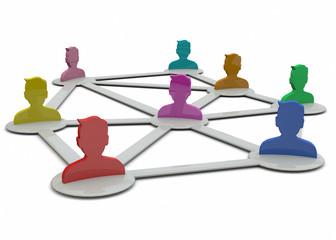 Network Concept - 3D