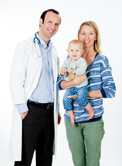 Doctor mit Familie
