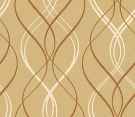 Distressed background with abstract seamless geometric wavy patt