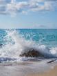 Leinwanddruck Bild - beach of the island of Lefkada in Greece