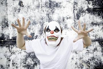 Clown scaring