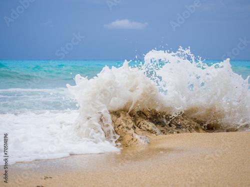 Leinwanddruck Bild beach of the island of Lefkada in Greece