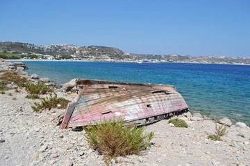 Old ruined fishing boat