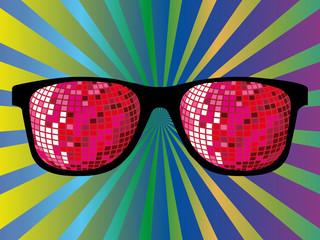 lunettes disco degradé