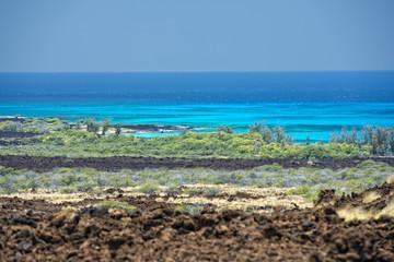 big island hawaii lava and sea
