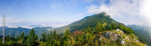 canvas print picture Panorama of amazing summer mountain landscape - Slovakia