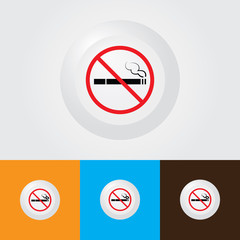Cigarette Icon , No Smoking Area Sign