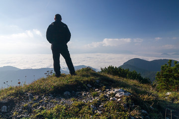 Hiker on a mountain top