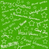 Merry Christmas - doodle art poster