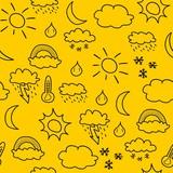 Weather texture - doodle art poster