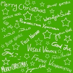 Merry Christmas - doodle art