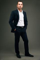 Handsome caucasian man isolated