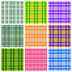 Table cloth backgrounds - checkered vector